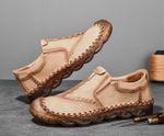 Zapatos casuales de cuero para hombre hechos a mano