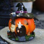 Arrls™ Halloween bruja calabaza casa decoración luces