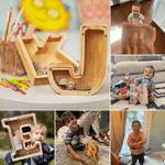 Regalo de madera de alcancía para niños / niñas para niños