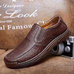 Zapatos casuales de negocios de cuero