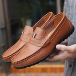 Zapatos casuales de cuero de tres barras