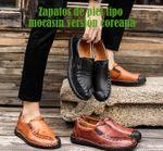 Zapatos de piel tipo mocasín versión coreana