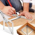 Regla angular multifuncional de aluminio