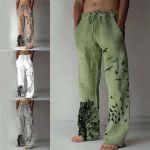 Pantalones informales de hombre con cordones
