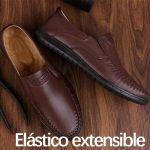 Zapatos casuales de cuero suave con suela blanda