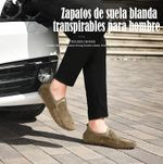Zapatos de suela blanda transpirables para hombre