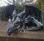 Escultura de dragón reclinado - Dragon Guard