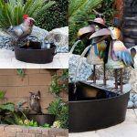Fuente de cuervos en el patio