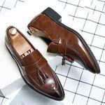 Zapatos de piel con punta para hombre