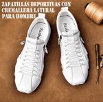 Zapatillas deportivas con cremallera lateral para hombre