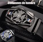 Cinturón de hombre con hebilla automática