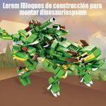 Bloques de construcción para montar dinosaurios