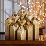 (🎄CHRISTMAS HOT SALE-50% OFF)Heaven Nativity Tree Pillar Statues Set(9Pcs)