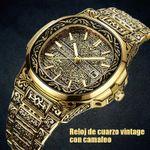 Reloj de cuarzo vintage con camafeo