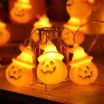 Lámparas de guirnalda de calabaza