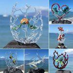 Escultura de vidrio de arte de la vida marina