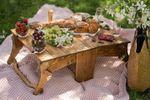 Mesa de madera plegable para exteriores