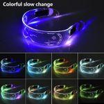 Gafas LED transparentes, coloridas y frescas