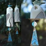 Bella libellula rustica Wind Chimes, regalo Boho Handmade Garden Decor