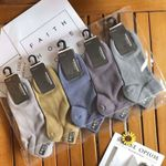 Calcetines de algodón de color sólido para hombre
