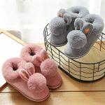 Zapatillas de conejo de algodón
