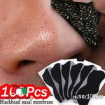 10-100pcs Nose Blackhead Remover Mask Deep Cleansing Skin Care Shrink Pore Acne Treatment Mask Nose Black dots Pore Clean Strips
