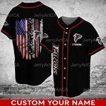 Atlanta Falcons Baseball Shirt, NFL Atlanta Falcons Baseball Jersey, Birthday
