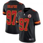 Chiefs #97 Alex Okafor Black Team Color V-neck Short-sleeve Jersey For Fans