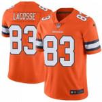Broncos #83 Matt LaCosse Orange Team Color V-neck Short-sleeve Jersey For Fans