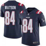 Patriots #84 Benjamin Watson Navy Blue Team Color V-neck Short-sleeve Jersey For Fans