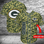 Green Bay Packers Baseball Shirt Men NFL