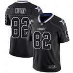 Cowboys #82 Jason Witten Lights Out Black Team Color V-neck Short-sleeve Jersey For Fans