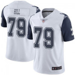 Cowboys #79 Trysten Hill White Team Color V-neck Short-sleeve Jersey For Fans