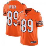 Bears #89 Mike Ditka Orange Team Color V-neck Short-sleeve Jersey For Fans