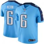 Titans #6 Brett Kern Light Blue Team Color V-neck Short-sleeve Jersey For Fans