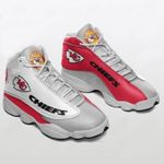 Kansas City Chiefs Shoes Form Air Jordan 13 Sneakers , Sneakers Sport Shoes white red  NFL team , Running Shoes, Fan sneaker