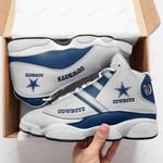 Dallas Cowboys Air Jordan 13 Shoes Sneaker Gift Shoes For Fan , shoes Sport for Men for women, Like the Sneaker DALLAWHITE
