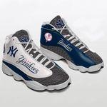 New York Yankees   Air Jordan 13 Shoes Sneaker Gift Shoes For Fan , shoes Sport for Men for women, Like the Sneaker NYWHITE