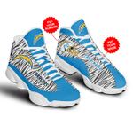 Los Angeles Chargers Customized  JD13 Shoes, Air Jordan 13, Gift Shoes For Fan , Custom Shoes and add Name shoes