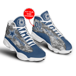 Dallas Cowboys  Customized  JD13 Shoes, Air Jordan 13, Gift Shoes For Fan ,add Name shoes for saller