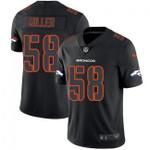 Broncos #58 Von Miller Black Team Color V-neck Short-sleeve Jersey For Fans