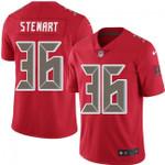 Buccaneers #36 M.J. Stewart Red Team Color V-neck Short-sleeve Jersey For Fans