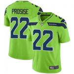 Seahawks #22 C. J. Prosise Green Team Color V-neck Short-sleeve Jersey For Fans