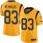 Rams #83 Josh Reynolds Gold Team Color V-neck Short-sleeve Jersey For Fans