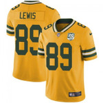Packers #89 Marcedes Lewis Yellow Team Color V-neck Short-sleeve Jersey For Fans