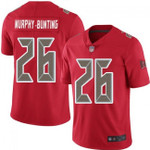 Buccaneers #26 Sean Murphy-Bunting Red Team Color V-neck Short-sleeve Jersey For Fans