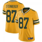 Packers #87 Jace Sternberger Yellow Team Color V-neck Short-sleeve Jersey For Fans