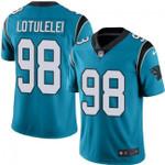 Panthers #98 Star Lotulelei Blue Team Color V-neck Short-sleeve Jersey For Fans