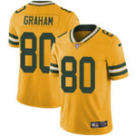 Packers #80 Jimmy Graham Yellow Team Color V-neck Short-sleeve Jersey For Fans