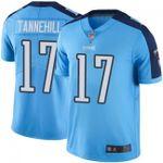 Titans #17 Ryan Tannehill Light Blue Team Color V-neck Short-sleeve Jersey For Fans